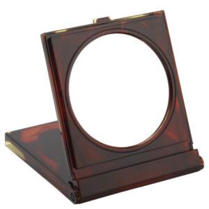 FMG Tortoiseshell Free Standing Travel Mirror in Case 7X Magnifying-0