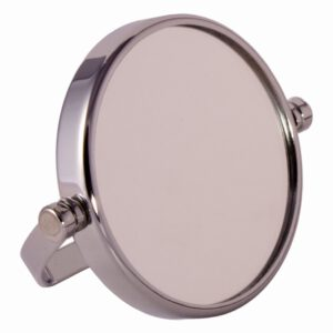 FMG Small Round Chrome Free Standing 7X Magnifying Travel Mirror 10cm Diameter-0