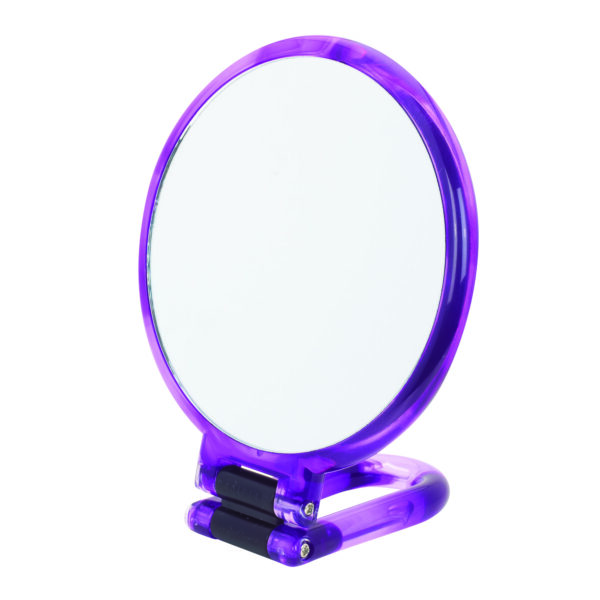 Danielle Hand Held / Free Standing Circular Mirror 10X Magnifying Colour Choice-3537