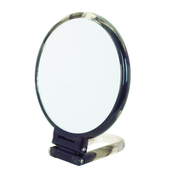 Danielle Hand Held / Free Standing Circular Mirror 10X Magnifying Colour Choice-3538
