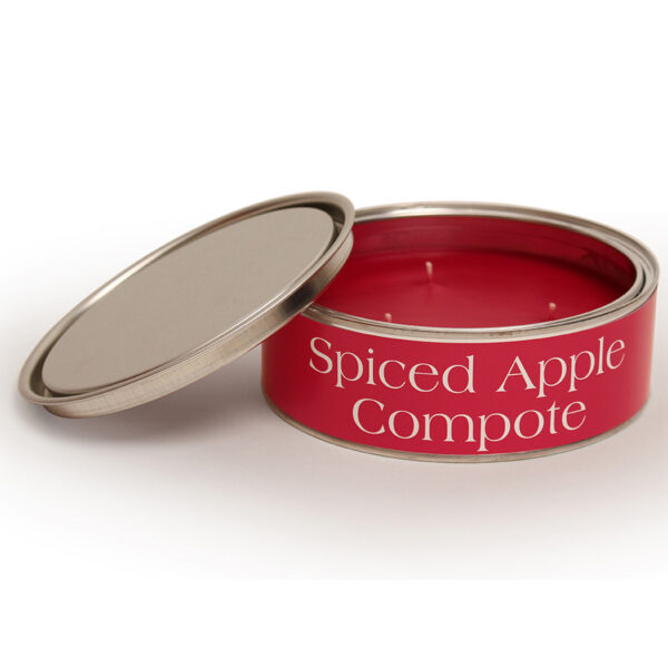 Pintail Candles Large 3 Wick Scented Candle Tin - Spiced Apple Compote-0