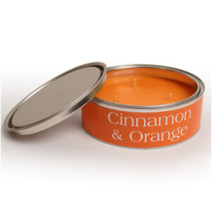 Pintail Candles Large 3 Wick Scented Candle Tin - Cinnamon & Orange-0
