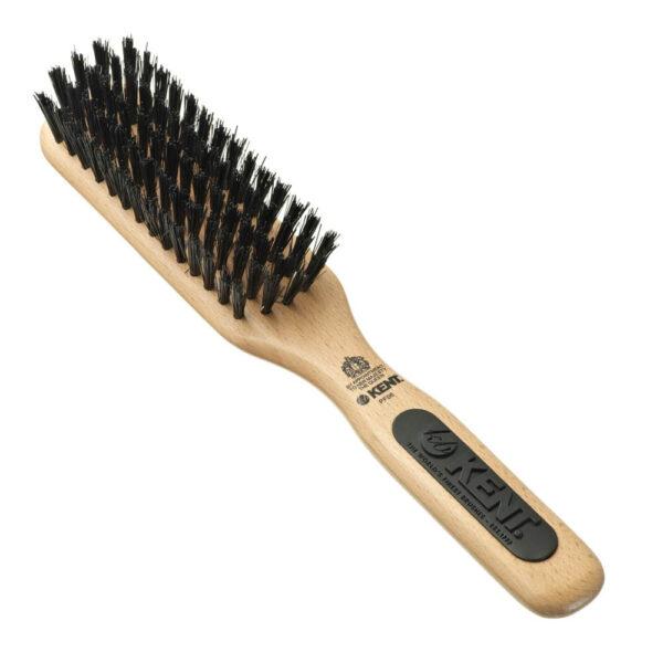 Kent Brushes PF06 Natural Shine Unisex Porcupine Hair Brush Beech Wood-0