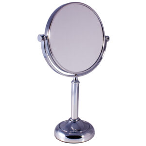 Free Standing Pedestal Vanity Mirror 10X Magnifying - Chrome