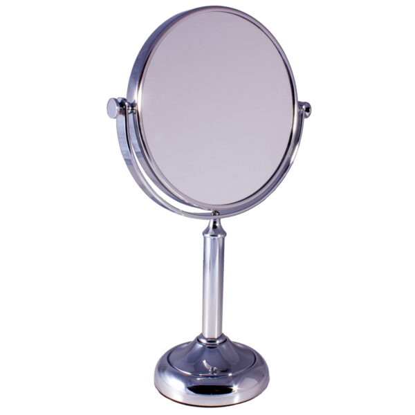 Free Standing Pedestal Vanity Mirror 10X Magnifying - Chrome
