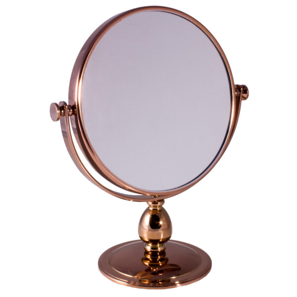 Free Standing Pedestal Vanity Mirror 10X Magnifying - Rose Gold