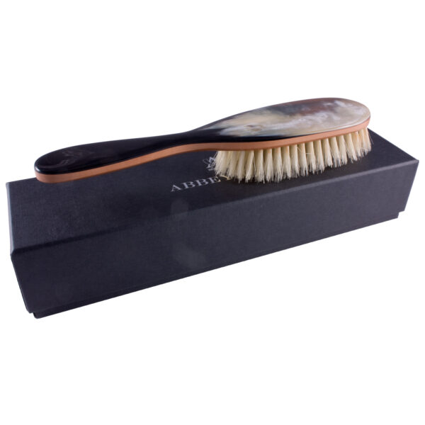 Abbeyhorn Hair Brush Pear Wood