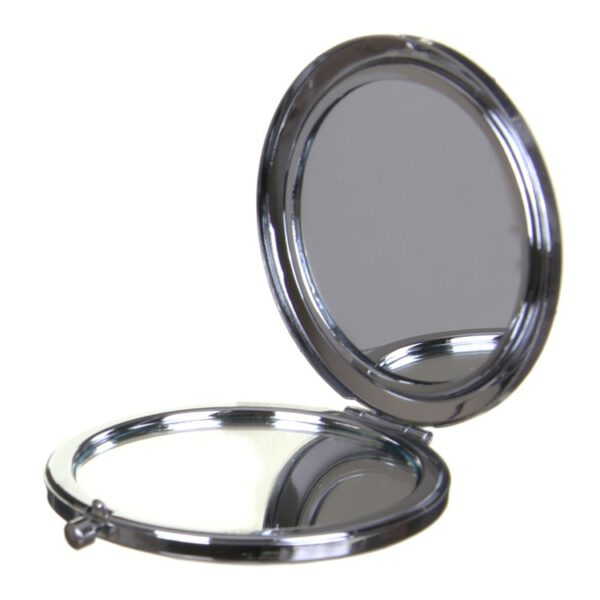 Compact Round Make-Up Mirror Snake Skin Effect Pink-8170