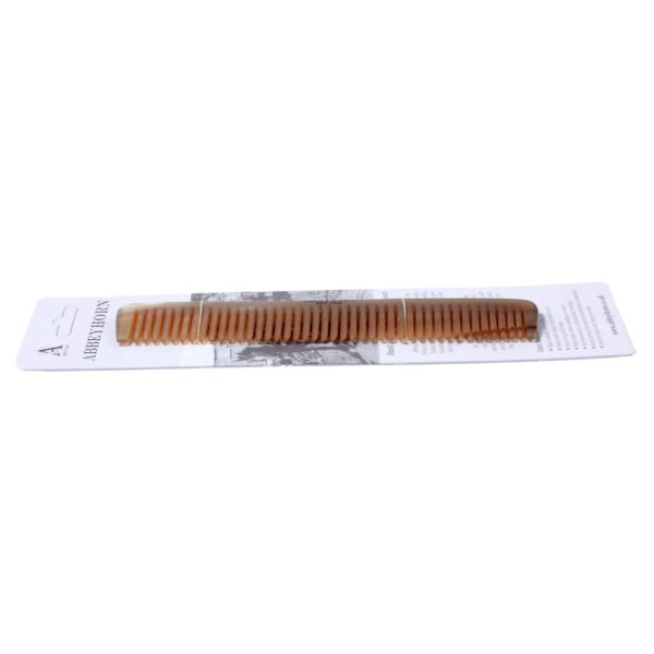 Abbeyhorn Hand Crafted Natural Horn Broad Tooth Comb 170mm-8576