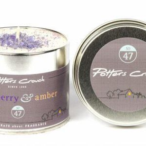 Potters Crouch Blackberry & Amber Scented Candle in Tin-0