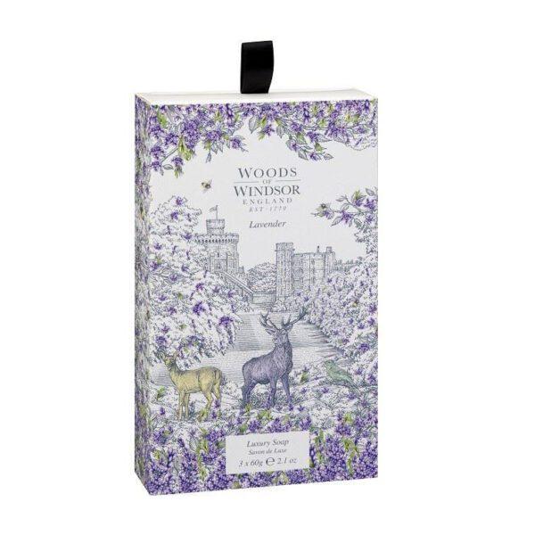 Woods of Windsor Soap, 60g x3 - Lavender-0