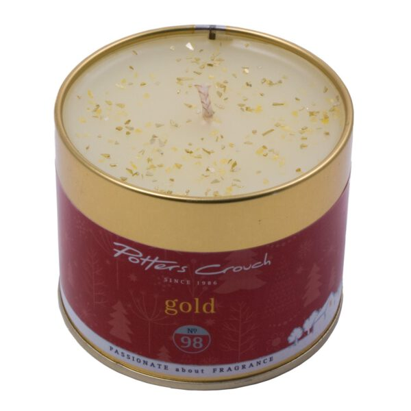 Potters Crouch Gold Scented Candle in Tin-0