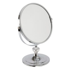 FMG Stand 18cm Mirror True Image & 5x Magnification - Chrome-0