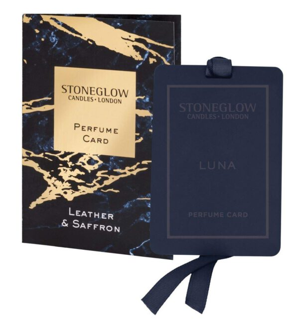 Stoneglow Luna Perfume Card - Leather & Saffron-0