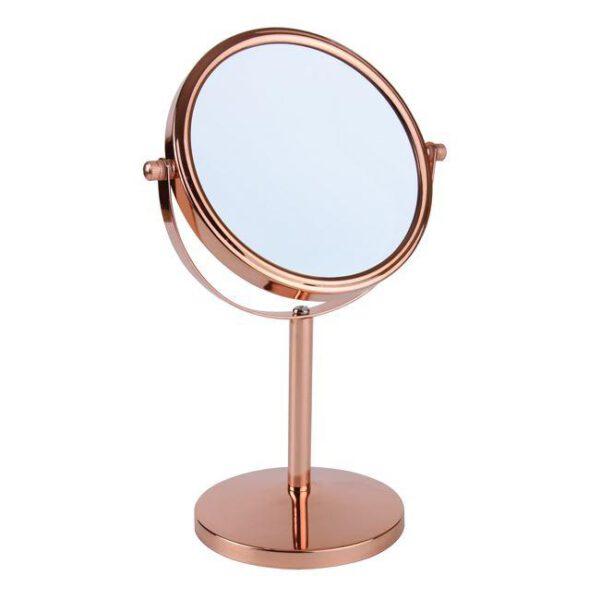 FMG Pedastal 15cm Mirror True Image & 5x Magnification - Rose Gold-0