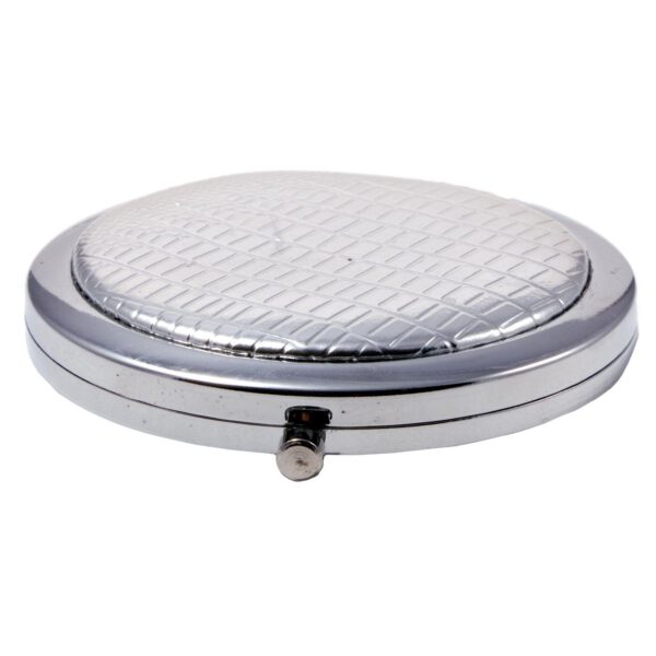 Compact Round Make-Up Mirror Silver-0