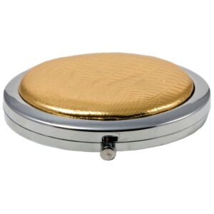 Compact Round Make-Up Mirror Gold-0