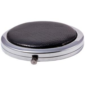 Compact Round Make-Up Mirror Black-0