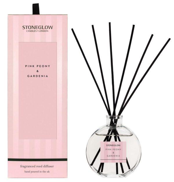 Stoneglow Modern Classic Home Fragrance Diffuser - Pink Peony & Gardenia-0