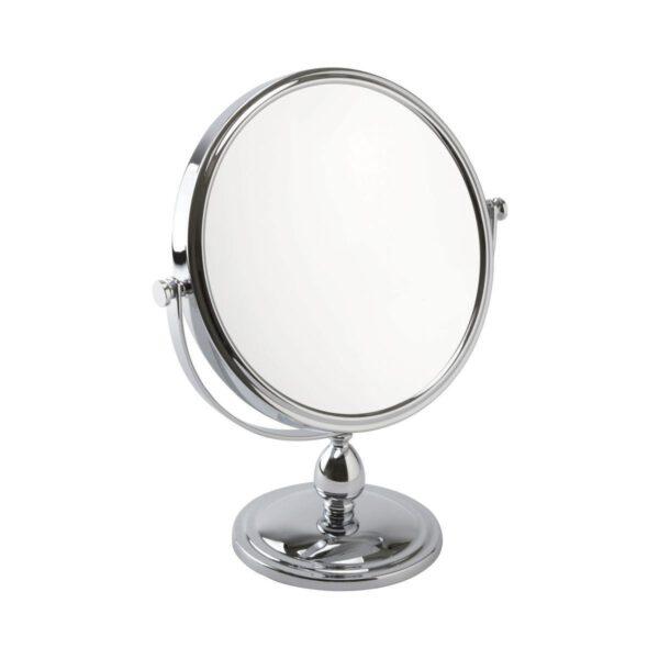 Free Standing Pedestal Vanity Mirror 10X Magnifying - Chrome-0